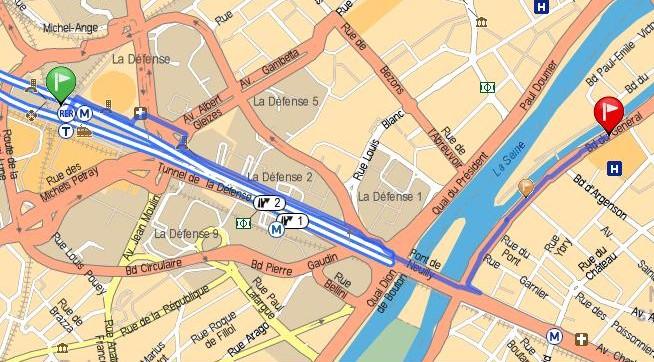 Scanner paris la défense, Neuilly sur seine, accès à pied